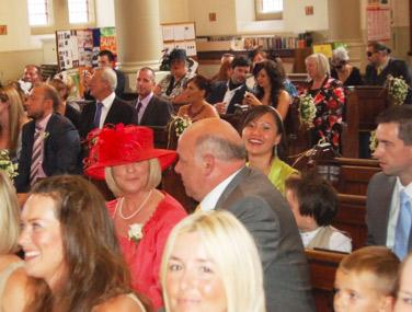 wedding-3-guests-in-church